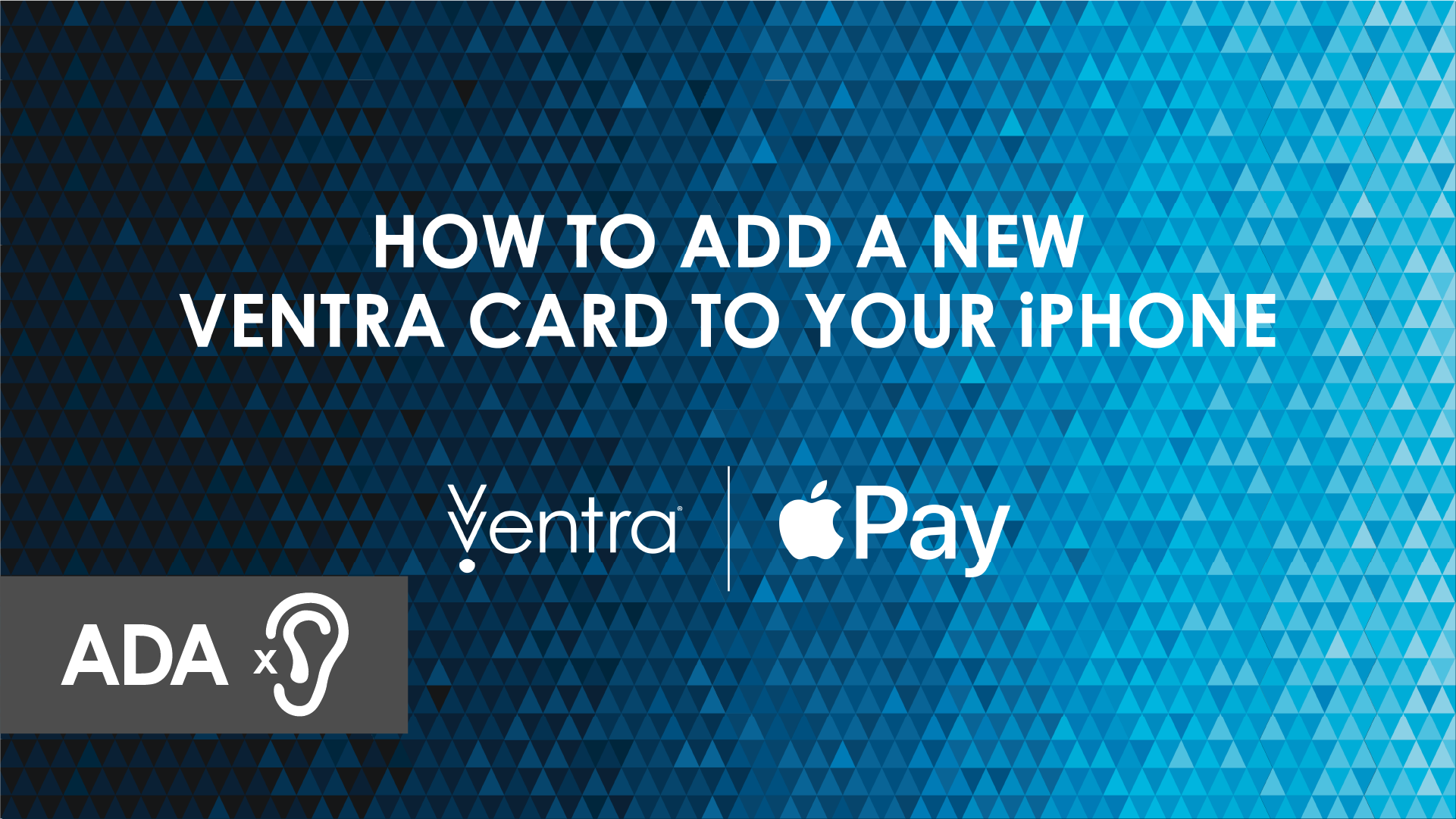 How to add a new Ventra Card to your iPhone